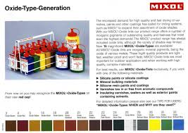 Mixol Tint Color Chart Mixol Oxide Pigments Heritage Natural Finishes