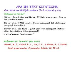 Citing A Quote Apa Gorgeous Best Ideas Of Apa Format In Text Citation Multiple Authors Best