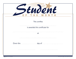 Student Of The Month Certificates School Smart Raised Print Student Of The Month Recognition Award 11