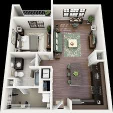 Small Picture 50 One 1 Bedroom ApartmentHouse Plans Apartment floor plans