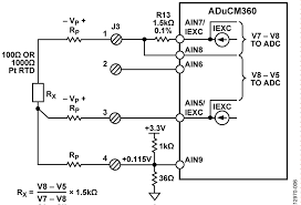 cn0359 circuit note analog devices figure 6 configuration for 3 wire rtd connection