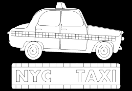 Coloriage Taxi New York Anniversaire 10 Ans Pinterest Cake