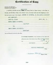 Example Of Divorce Decree Extraordinary Marilyn Monroe September 48 48 Copy Of Decree Of Divorce From