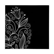 black white tulip glass print wall art picture flower design square on black and white tulip wall art with black white tulip glass print wall art picture flower design square