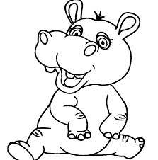 Baby Hippo Coloring Pages Homelandsecuritynews