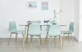 talisa glass dining set 6 seats teal