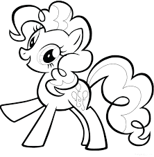 Pinkie Pie Coloring Pages Inspire My Little Pony Draw Pertaining To