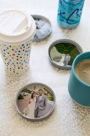 one piece mason jar lids resin and photos make the most darling custom coasters