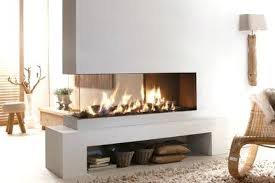 double sided gas fireplace warmer unique room divider and with two sided gas fireplace 3 sided