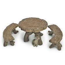 furniture fairy. Log Table \u0026 Bench Set Furniture Fairy