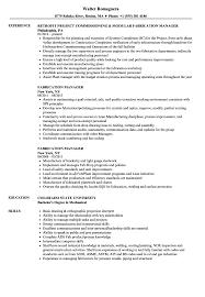 Fabrication Manager Sample Resume Fabrication Manager Resume Samples Velvet Jobs 1