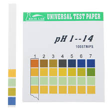 Ph Color Chart Universal Ph Test Strips Full Range 1 14 Indicator Paper Tester 100 Strips Boxed W Color Chart