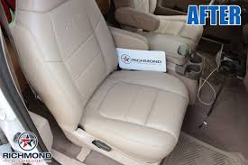 2001 ford f 350 lariat perforated leather seat cover passenger bottom tan