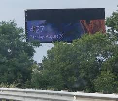 The Computer That Controls This Billboard Went To The Lock