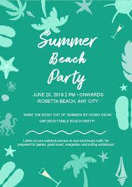 Free Summer Beach Party Flyer Templates