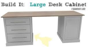 office desk cabinet. DIY Office Desk -large Base Cabinet .