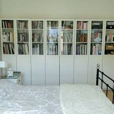 s bookcase with glass doors ikea white billy