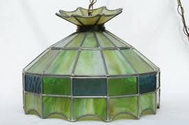 vintage stained glass hanging lamps vintage leaded glass shade light fixture green stained glass pendant hanging vintage stained glass hanging lamps