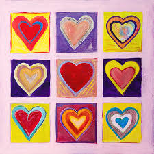 abstract painting painting hearts for jasper johns by the art house