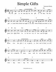 free lead sheet simple gifts
