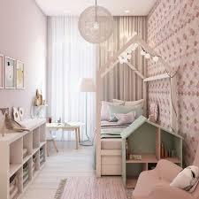 Du möchtest ein hübsches babyzimmer für mädchen einrichten? Schmales Kinderzimmer Fur Madchen Mit Attraktiver Beleuchtung Quarto Moderno Para Criancas Design De Quarto De Criancas Quarto De Mulher