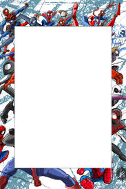 Spiderman Template Spiderman Party Prop Frame Template Postermywall