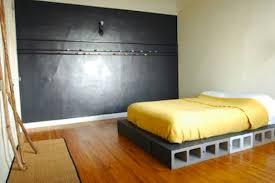 concrete block furniture. D-i-y Concrete Block Bed Frame Furniture U
