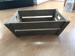 brand new waitrose wooden crate