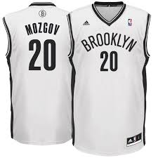 Men's Jersey Replica Nets Mozgov White Brooklyn Timofey Adidas Home