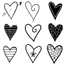 hearts silhouette hearts silhouettes black free stock photo public domain pictures