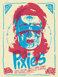 2 Color Poster Design The Pixies Screen Print Poster Poster Prints Rock Posters