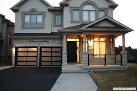 modern aluminum glass garage doors
