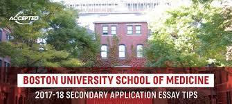 Boston University School Of Medicine Secondary Application Tips
