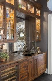 wet bar lighting. Rustic Bar Lighting Ideas Wet With Mirrored Backsplash Cottage Kitchen