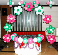 Simple Birthday Balloon Decoration  Image Inspiration Of Cake And Simple Balloon Decoration Ideas At Home