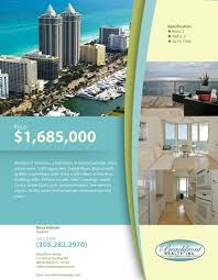 miami real estate flyer khronos design miami real estate flyer