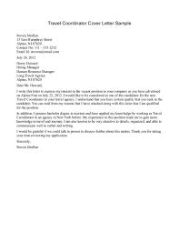 Travel Agent Resume Cover Letter Samples Virtren Com