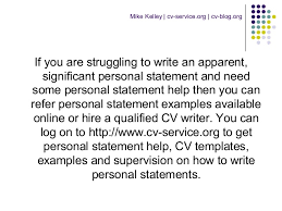 Personal Statement For A Cv How To Write A Personal Statement For A Cv