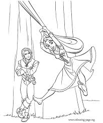 Simple tangled coloring page for kids : Printable Tangled Coloring Pages Coloring Home