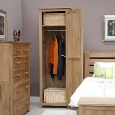 Opus Bedroom Furniture Opus Solid Oak 1 Door Single Wardrobe Oak Furniture Uk