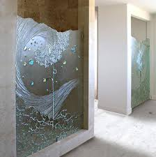how to clean etched glass shower doors shower door contemporary bathroom how to clean etched glass