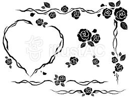 バラの飾り枠イラスト No 688723無料イラストならイラストac