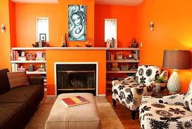 vibrant orange living room image credit room decorating ideas