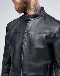 men jackets hugo men s hugo by hugo boss lefox leather biker jacket slim fit