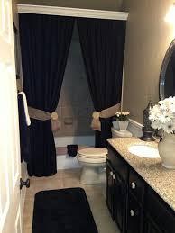 apartment bathroom ideas pinterest. Mesmerizing Apartment Bathroom Ideas College Decorating Black Curtain With Whte Pinterest
