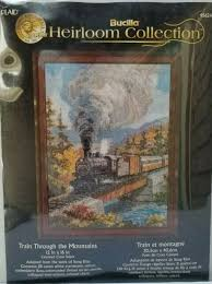 Bucilla To Dmc Floss Conversion Chart Bucilla Heirloom Collection Train Through The Mountains Cross Stitch Kit 45624