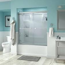 semi traditional sliding bathtub door frameless tub doors delta best