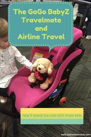 using go go kidz travelmate with my clek fllo on a airplane