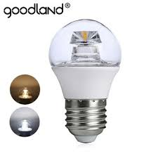 goodland cob led lamp chandelier led bulb e14 e27 high luminous crystal 110v 220v g45 for living room bedroom lighting