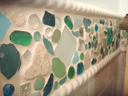 astounding kitchen and bathroom decoration with beach glass tile backsplash exquisite bathroom wall decoration using